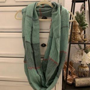 Stitch Fix plaid infinity scarf